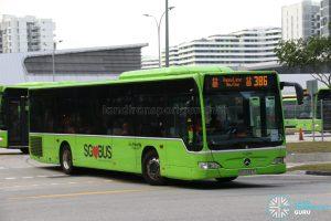 Happy Lunar New Year display on Bus 386