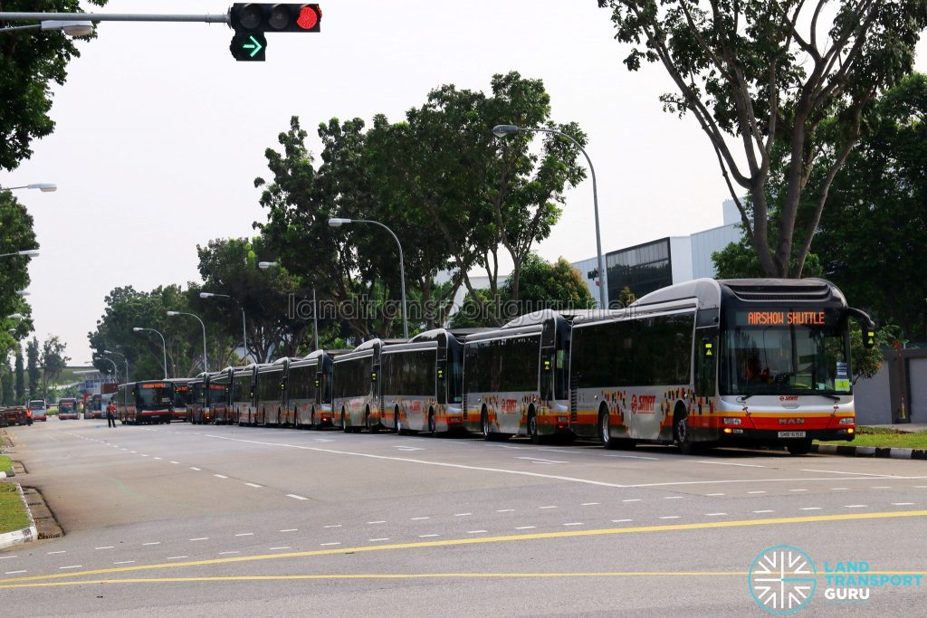 Airshow Shuttle 2018 - SMRT Buses layover at Changi Business Park