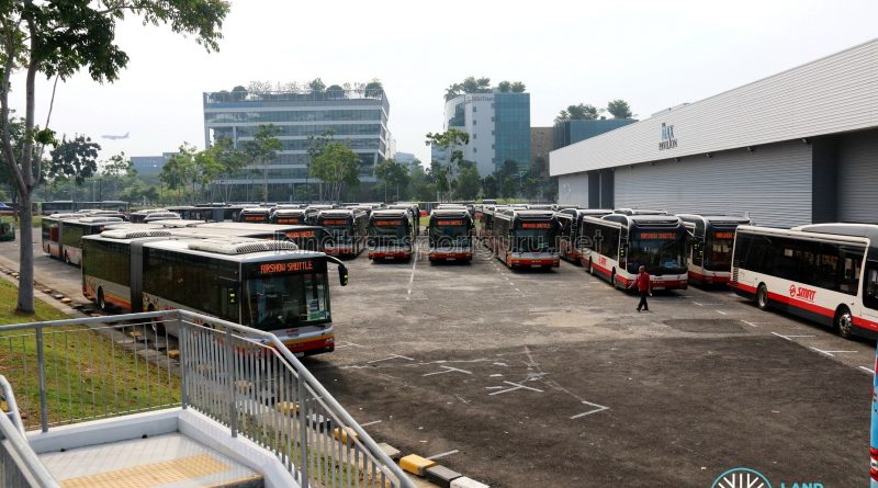 Airshow Shuttle 2018 - Holding area behind Singapore Expo Hall 10