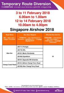 Singapore Airshow Bus Diversion for Service 35