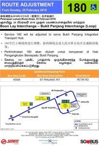 Service 180 Amendment to Bukit Panjang ITH Poster (Feb 2018)