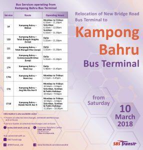 Kampong Bahru Bus Terminal SBS Transit Guide (Front)