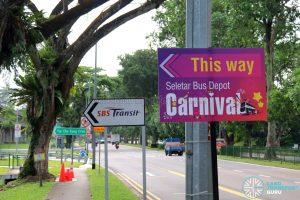 Seletar Bus Depot Carnival Signage along Lentor Avenue
