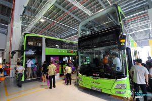 SBS Transit MAN A95 on display during the Seletar Bus Depot Carnival
