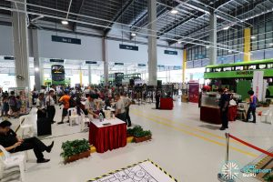 Exhibition Booths at the Seletar Bus Depot Carnival