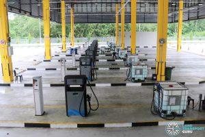 Seletar Bus Depot - Refueling Lanes with AdBlue Tanks