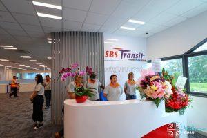 SBS Transit Office at the Seletar Bus Depot