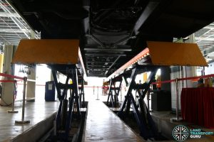 Seletar Bus Depot - Vehicle Lifting System Undercarriage