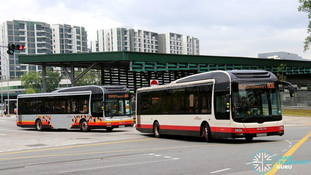Service 806: MAN NL323F buses (SMB3088M & SMB3103C)