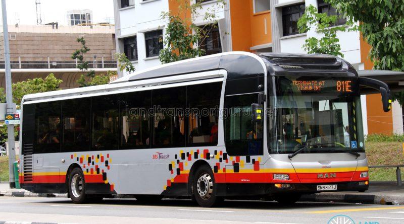 Service 811E - SBS Transit MAN NL323F (SMB3127J)