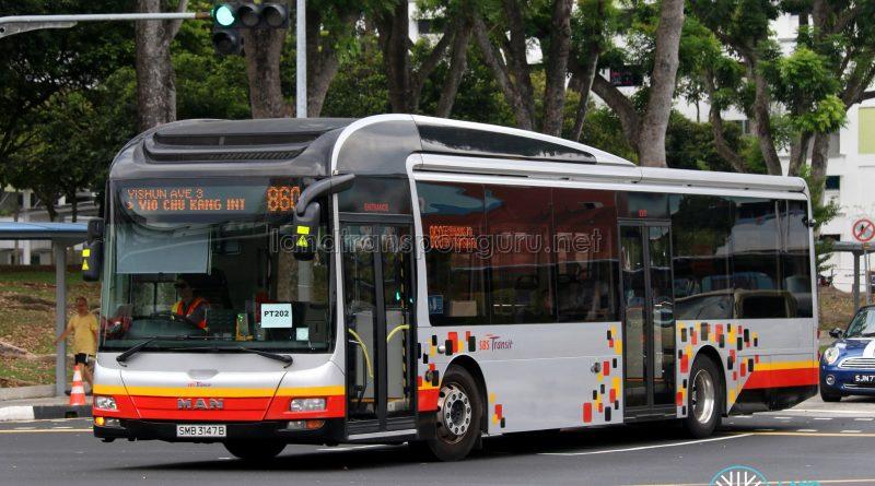 Service 860 - SBS Transit MAN NL323F (SMB3147B)