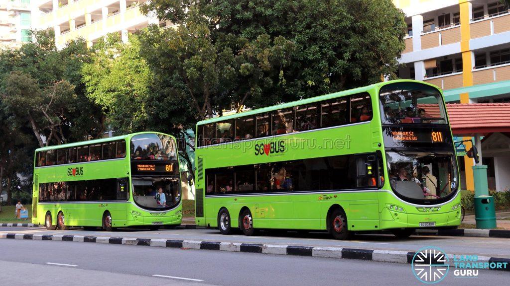 Service 811: Volvo B9TL buses (SG5049R & SG5124G)
