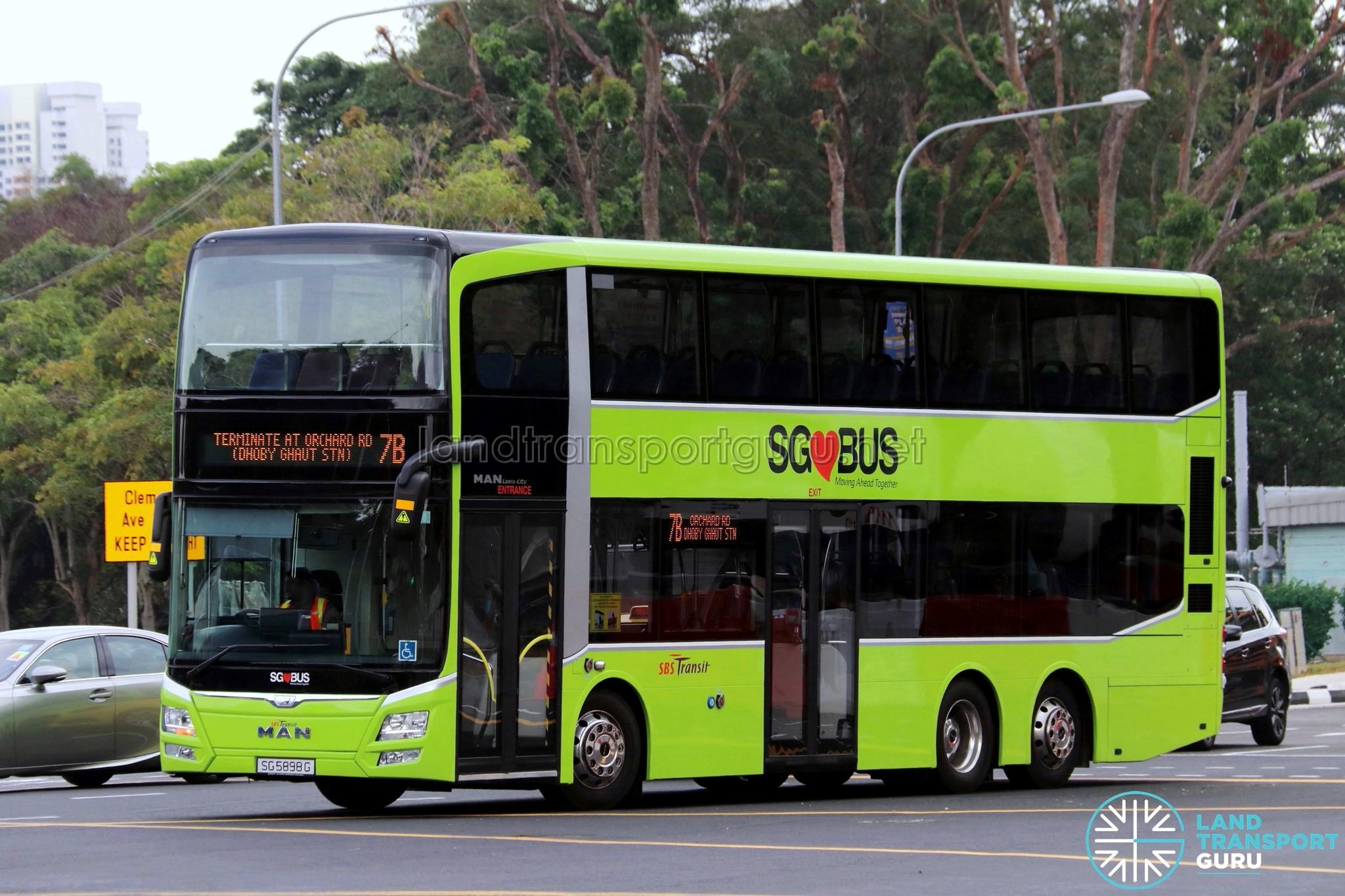 Sbs Transit Bus Service 7b Land Transport Guru