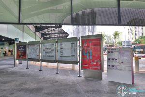 Kampong Bahru Bus Terminal - Information Board & Service Guide Rack