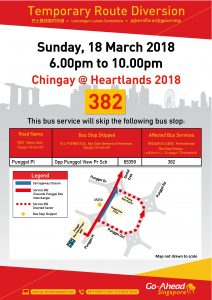 Go-Ahead Singapore Poster for Chingay @ Heartlands 2018 (Punggol)
