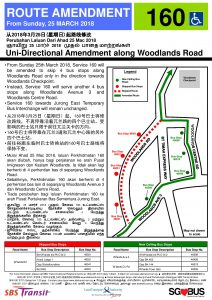 Bus Service 160 Amendment Poster