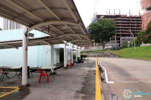 New Bridge Road Bus Terminal - Makeshift Bus Captain Rest Area