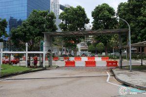 New Bridge Road Bus Terminal - Entrance from Eu Tong Sen St / New Bridge Road