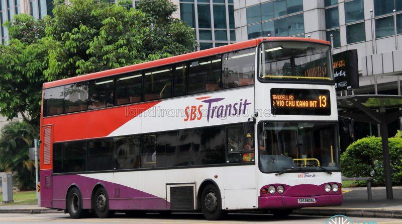 Service 13 - SBS Transit Volvo B10TL (SBS9805L)