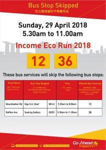Go-Ahead Income Eco Run 2018 Route Diversion Poster