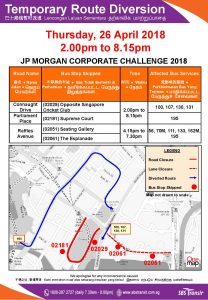 SBS Transit Diversion Poster for JP Morgan Corporate Challenge 2018