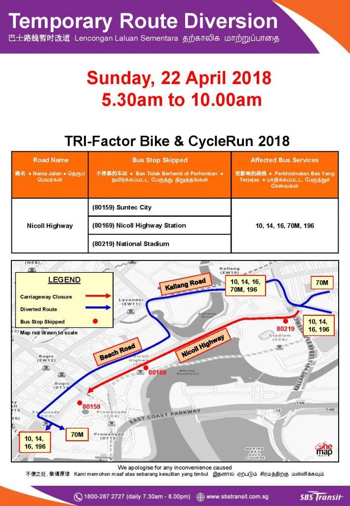 SBS Transit Poster for TRI-Factor Bike & CycleRun 2018