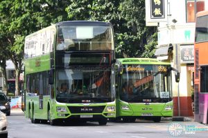 SBS Transit MAN Buses - 3 Door Double Deck and Euro 6 A22