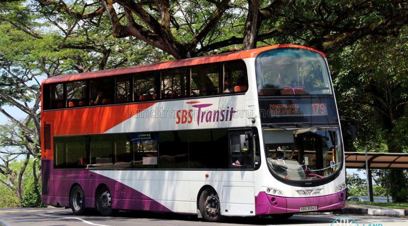 Service 179 - SBS Transit Volvo B9TL Wright (SBS3134D)