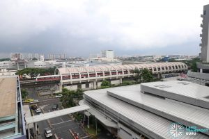 Bedok MRT Station - Aerial view from Bedok Town Centre