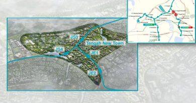 Tengah Plantation and Tengah Park: JRL Station Diagram