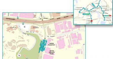 Jurong Hill: JRL Station Diagram