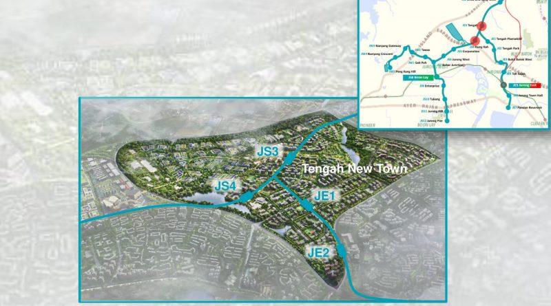 Tengah and Hong Kah: JRL Station Diagram