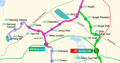 Jurong Region Line Map (LTA)