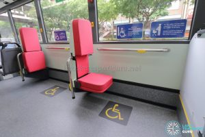 MAN A22 (Euro 6) - Wheelchair Bay (Foldable seat deployed)