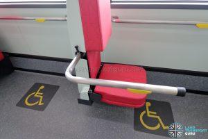 MAN A22 (Euro 6) - Wheelchair Backrest (with Foldable Chair & Handlebar)