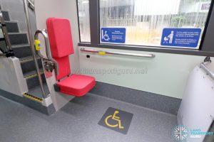 MAN A95 (Euro 6) - Rear wheelchair bay (Foldable seat deployed)