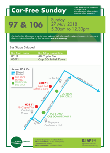 Tower Transit Poster for Car Free Sunday (27 May 2018)