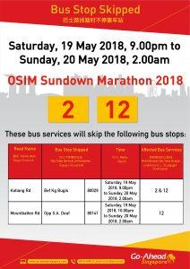 Go-Ahead Singapore Poster for OSIM Sundown Marathon 2018