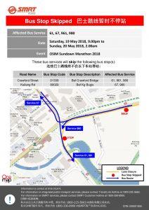 SMRT Buses Poster for OSIM Sundown Marathon 2018
