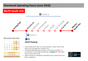 NSL Shortened Operating Hours (June 2018)