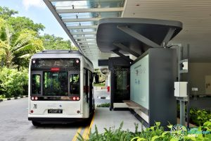 NTU-Blue Solutions Flash Shuttle - Charging Stop at CleanTech One