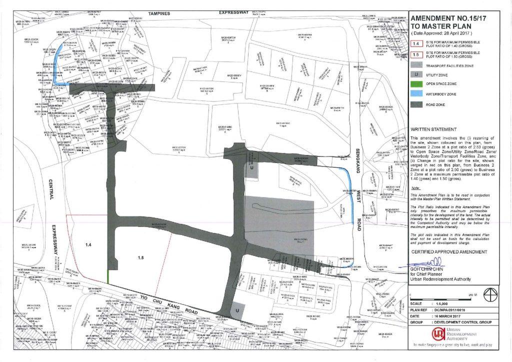 Master Plan amendment to include Sengkang West Bus Depot. Retrieved from URA Website