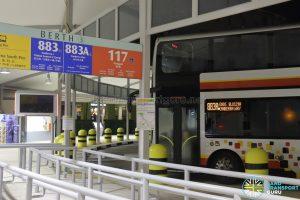 Service 883A Berth at Sembawang Bus Interchange