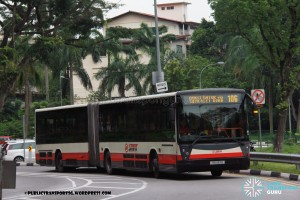 SMRT Mercedes-Benz O405G (Hispano Habit) (TIB1133B) - Service 106