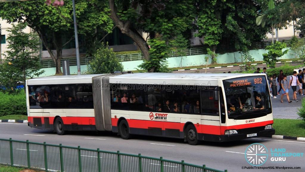 SMRT Mercedes-Benz O405G Volgren (TIB1193C) - Service 902