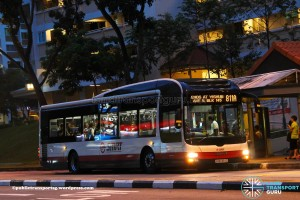 SMRT MAN A22 (SMB1364D) - Service 811A