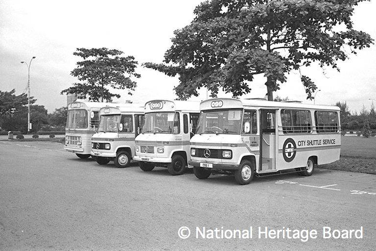 Lineup of CSS buses