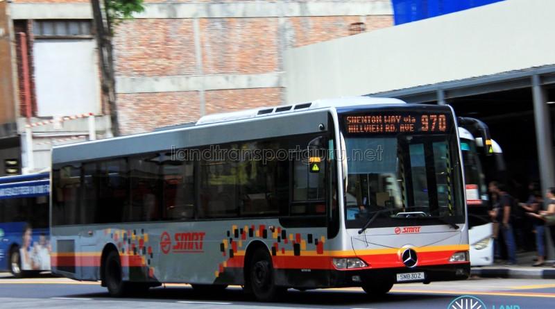 SMRT Mercedes-Benz OC500LE (SMB30Z) - Service 970