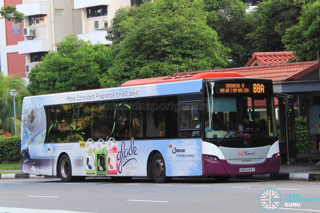 Bus 88A: SBS Transit Scania K230UB (SBS5133T)