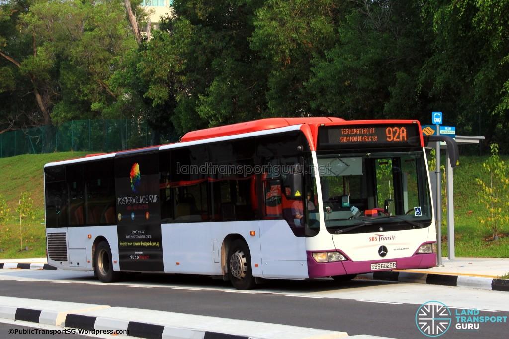 SBST Mercedes-Benz O530 Citaro (SBS6025R) - Service 92A